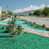 Recycled Landscape Glass Rocks Colored Glass Gravel And Mulch For A Distinctive Look