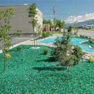 Recycled Landscape Glass Rocks Colored Glass Gravel And
